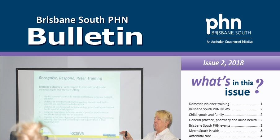 Brisbane South PHN Bulletin 2018 Issue 2
