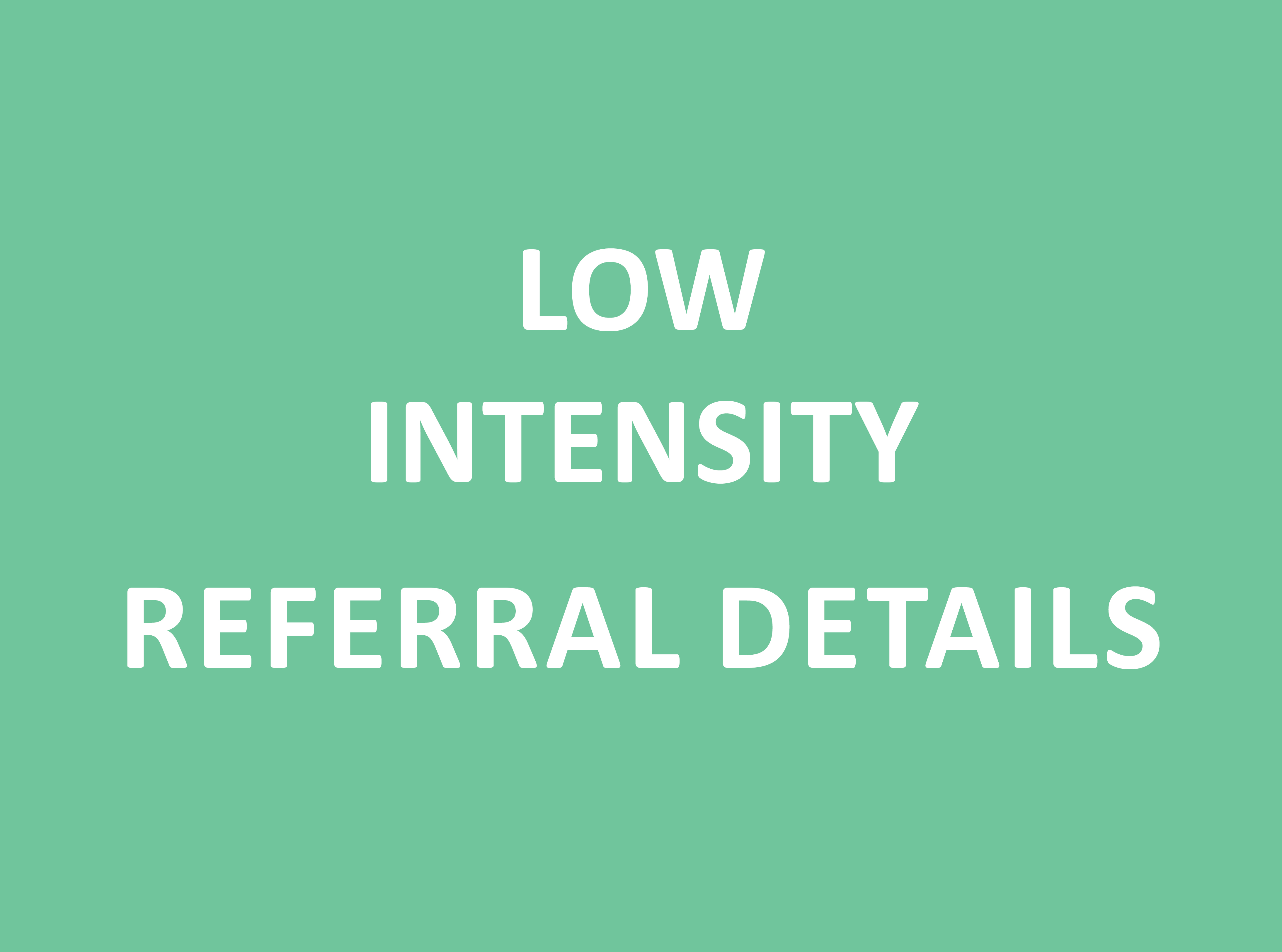 Information for referrers