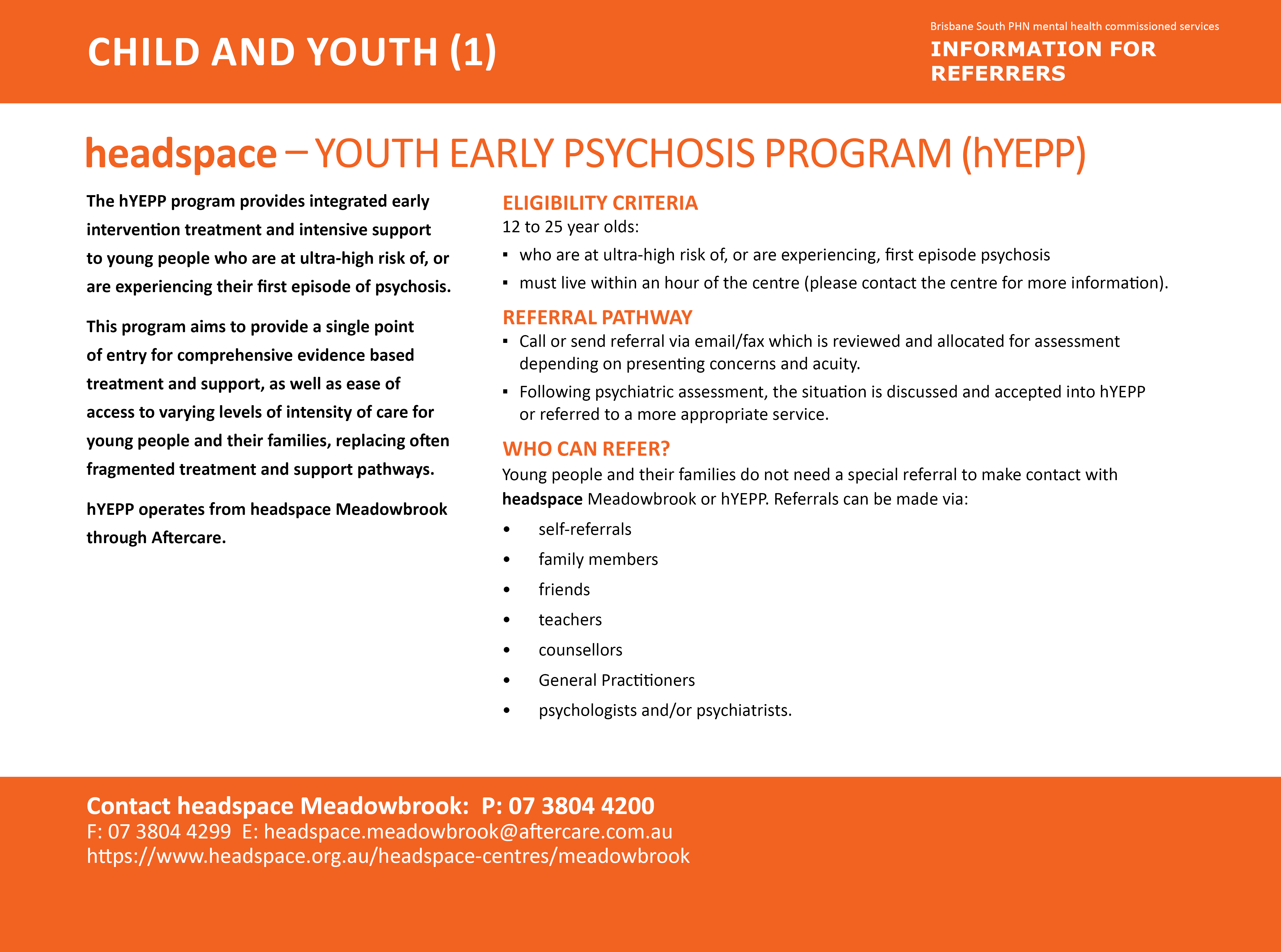 headspace - hYEPP program