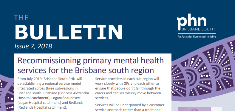 Brisbane South PHN Bulletin 2018 Issue 7