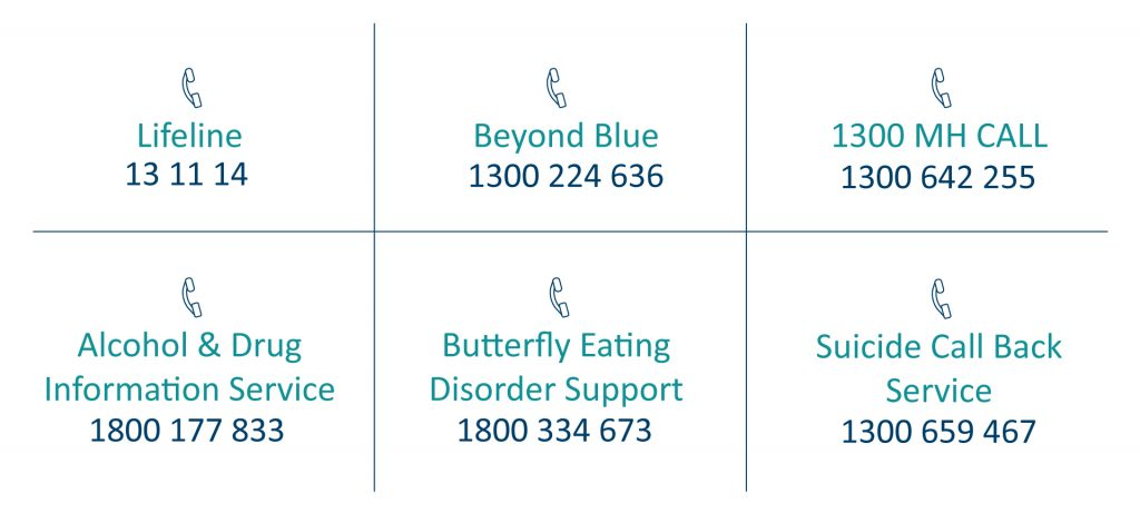 Crisis support phone numbers
